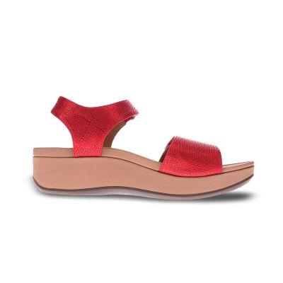 Raz Metallic Wedge Sandal