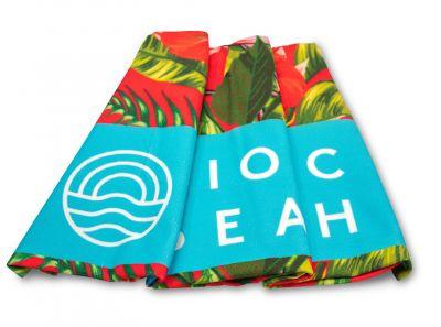 Vionic Beach Red Tropical Towel